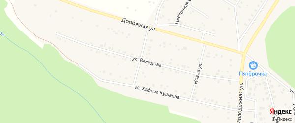 Улица Валидова на карте деревни Акбашева с номерами домов