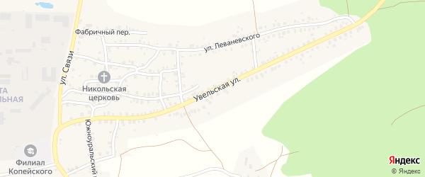 Увельская улица на карте Пласта с номерами домов