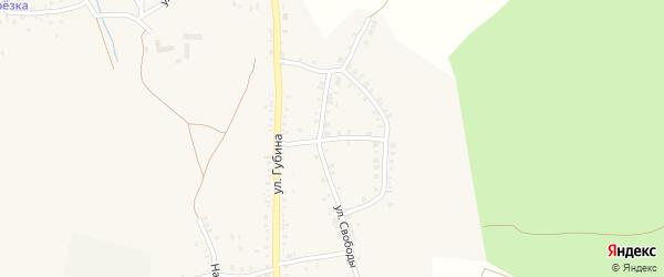 Профессиональный переулок на карте Пласта с номерами домов