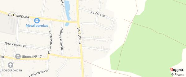 Улица Шевченко на карте Пласта с номерами домов