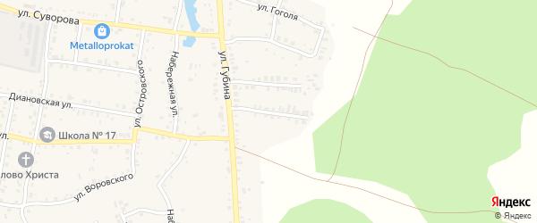 Корейский переулок на карте Пласта с номерами домов