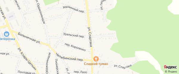 Уральский переулок на карте Магнитогорска с номерами домов