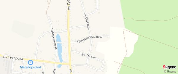 Гражданский переулок на карте Пласта с номерами домов