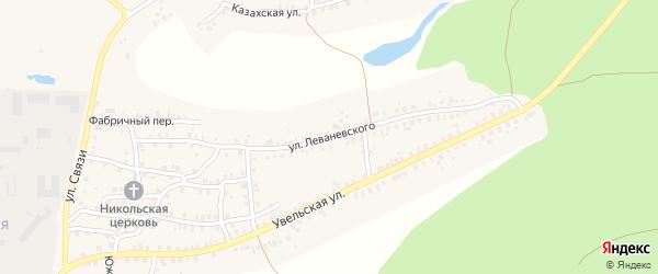 Улица Леваневского на карте Пласта с номерами домов
