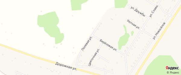 Полевая улица на карте деревни Акбашева с номерами домов