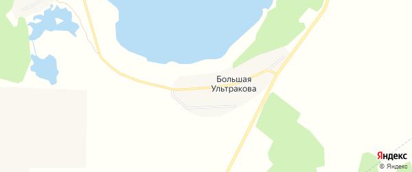 Карта деревни Большая Ультракова в Челябинской области с улицами и номерами домов