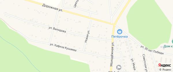 Новая улица на карте деревни Акбашева с номерами домов