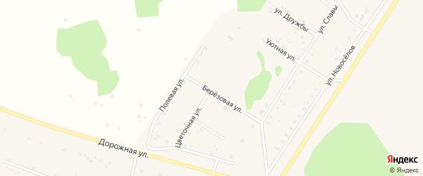 Цветочная улица на карте деревни Акбашева с номерами домов