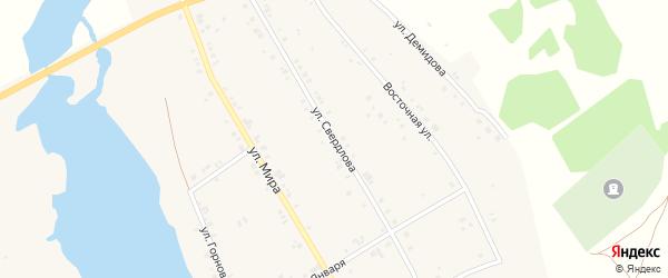 Улица Свердлова на карте Воскресенского села с номерами домов