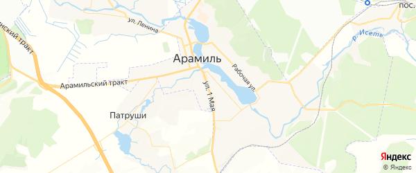 Карта Арамиля с районами, улицами и номерами домов: Арамиль на карте России