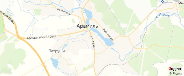 Карта Арамиля с районами, улицами и номерами домов