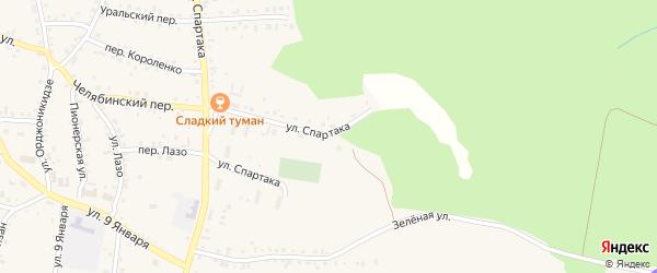 Улица Спартака на карте Пласта с номерами домов