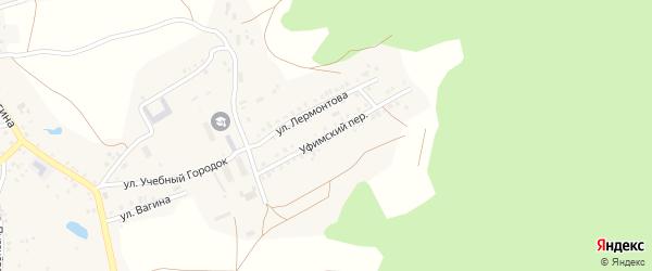 Уфимский переулок на карте Пласта с номерами домов