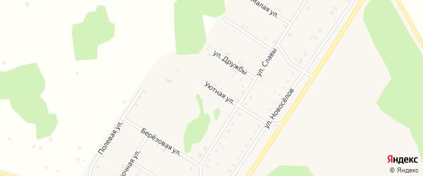 Уютная улица на карте деревни Акбашева с номерами домов