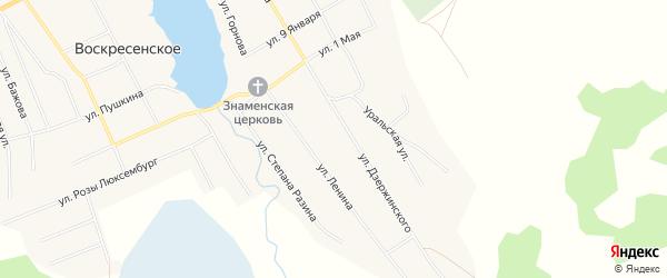 Карта Воскресенского села в Челябинской области с улицами и номерами домов