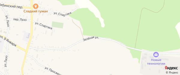 Зеленая улица на карте Пласта с номерами домов