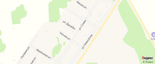 Улица Славы на карте деревни Акбашева с номерами домов