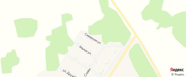Северная улица на карте деревни Акбашева с номерами домов