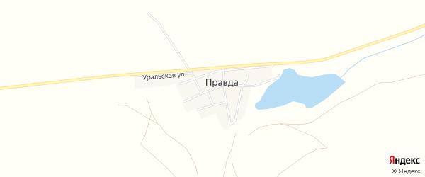 Карта поселка Правды в Челябинской области с улицами и номерами домов