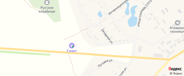 Улица Дорожников на карте села Аргаяша с номерами домов