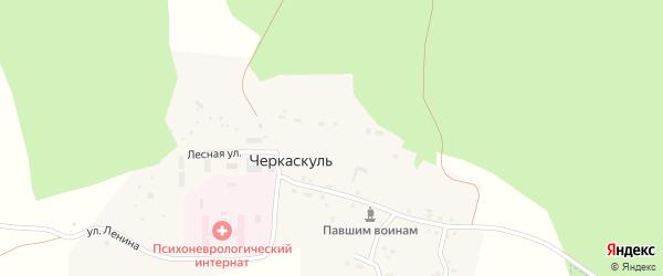 Сад Южный Урал на карте поселка Черкаскуль с номерами домов