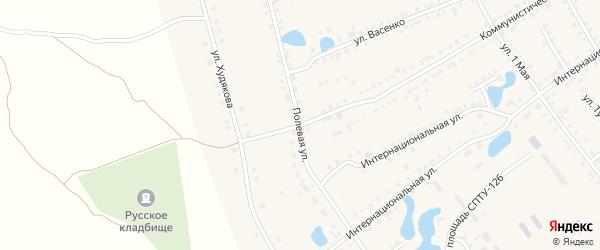 Полевая улица на карте села Аргаяша с номерами домов