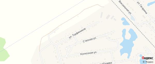 Улица Торфянников на карте села Аргаяша с номерами домов