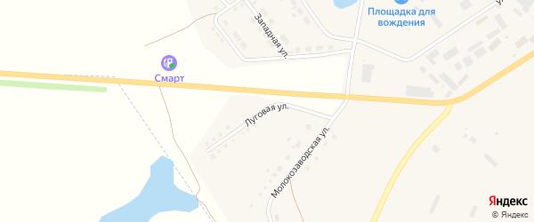 Луговая улица на карте села Аргаяша с номерами домов