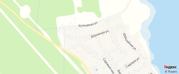 Дорожная улица на карте села Аргаяша с номерами домов