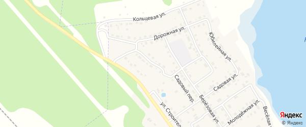 Дорожный переулок на карте села Аргаяша с номерами домов