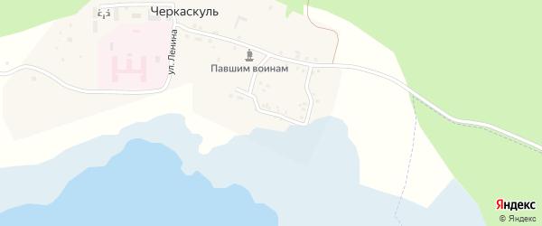 Береговая улица на карте поселка Черкаскуль с номерами домов