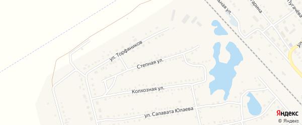 Степная улица на карте села Аргаяша с номерами домов