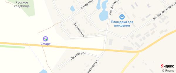 Западная улица на карте села Аргаяша с номерами домов