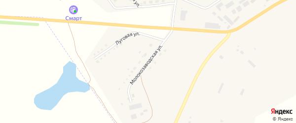 Молокозаводская улица на карте села Аргаяша с номерами домов