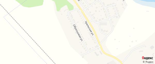 Образцовая улица на карте села Аргаяша с номерами домов
