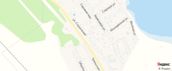 Улица Строителей на карте села Аргаяша с номерами домов