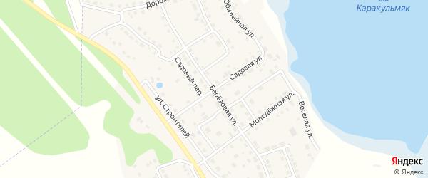 Садовая улица на карте села Аргаяша с номерами домов