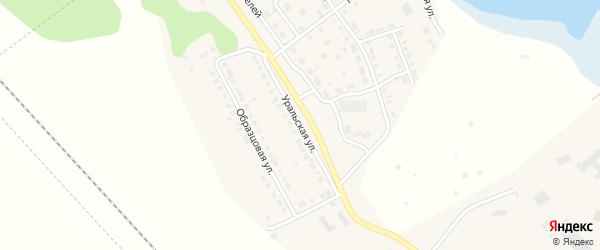 Уральская улица на карте села Аргаяша с номерами домов