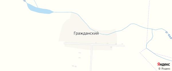 Центральная улица на карте Гражданского поселка с номерами домов
