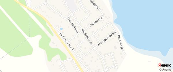 Березовая улица на карте села Аргаяша с номерами домов