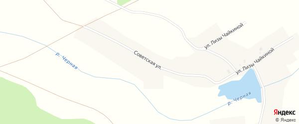 Советская улица на карте Пласта с номерами домов