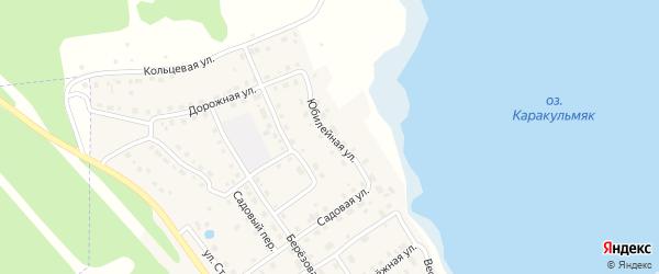 Юбилейная улица на карте села Аргаяша с номерами домов
