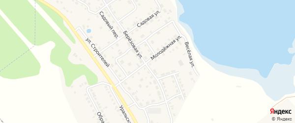 Молодежная улица на карте села Аргаяша с номерами домов