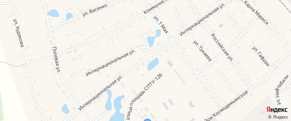 Интернациональная улица на карте села Аргаяша с номерами домов