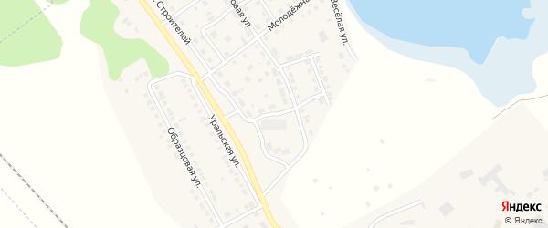 Переулок Строителей на карте села Аргаяша с номерами домов