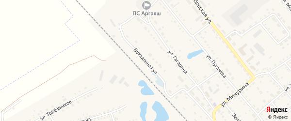 Привокзальная улица на карте села Аргаяша с номерами домов