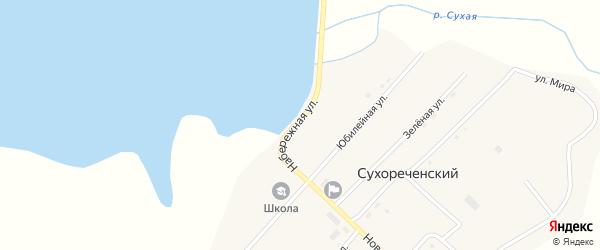 Набережная улица на карте Сухореченского поселка с номерами домов