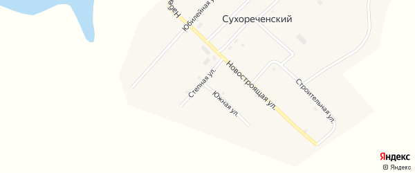 Степная улица на карте Сухореченского поселка с номерами домов