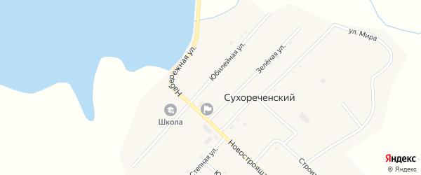 Юбилейная улица на карте Сухореченского поселка с номерами домов