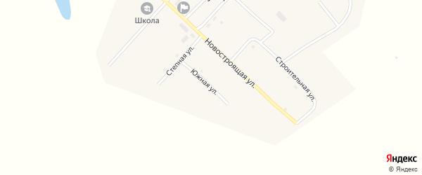 Южная улица на карте Сухореченского поселка с номерами домов